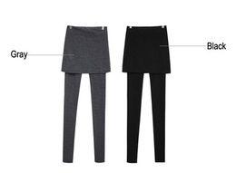 Polainas de la falda caliente en Línea-Venta al por mayor de señora Leggings Nueva Hot Corea Ladies Mirco Velvet Thin Pant falda plisada culottes Leggings Faldas W3252