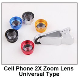 Wholesale detachable adhesive magnetic X telephoto zoom Lens cell phones lens universal for iphone samsung htc etc five colors