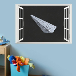 2016 NEW star war sith infiltrator 3d windows wall stickers kids room decor 1477. diy home decals movie mural art poster 4.5 home decoration