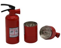 Wholesale 1Pc Metal Fire Extinguisher Shape Herbal Herb Tobacco Grinder Spice Crusher Hand Muller Smoke Grinder Smoking pipe