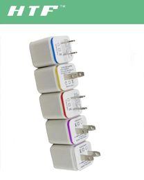 mini design Dual ports USB Wall Charger Home travel adapter 5V 2.1A US EU 2 ports plug