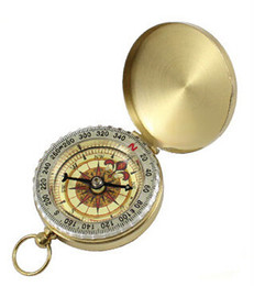 Wholesale New Luminous Brass Pocket copper Compass Watch Vintage Antique Style Camping Hiking Compass Navigation Outdoor Gear HHA50