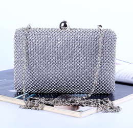 Factory Retaill Wholesale brand new handmade fantastic diamond evening bag clutch with satin for wedding banquet party porm(More colors)