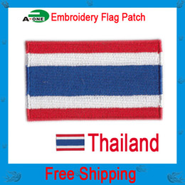 """thailand flag patch Free Shipping 2.5""""*1.5"""" hot cut border good quality low price"""