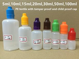 5ml 10ml 15ml 20ml 30ml 50ml 100ml PE E Liquid Bottle Empty Dropper Bottles With Tamper Proof And Child Proof Cap For e-juice