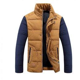 Fall-2015 New Men Tide More Upscale Warm Winter Splicing Big Yards Men Down Jacket Mens Winter Jackets And Coats
