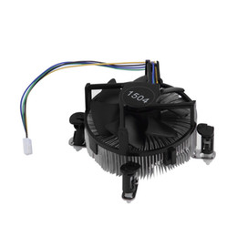 Wholesale pc CPU Heat Sink Aluminium for Intel Socket Base Fan Heatsink Cooler Cooling with fan blades For PC Computer V W