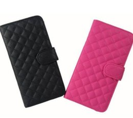 """New Check Classical PU Leather Quilted Flip Cover Card Holder Stand Case For iPhone 6 Plus 5.5"""""""