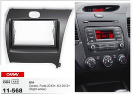 CARAV 11-568 Top Quality Radio Fascia for KIA Cerato, Forte 2013+; K3 (Right wheel) Stereo Fascia Dash CD Trim Installation Kit