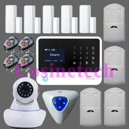Wholesale operation menu in English Spanish French Russian Dutch for option device WiFi GPRS SMS Home House GSM Alarm System Security Kit HD IP C