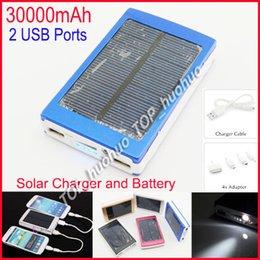 Высокая емкость Солнечное зарядное устройство и аккумулятор 30000mAh панели солнечных двойной зарядки Порты портативный банк силы для всех сотовых телефонов таблице PC MP3 от Поставщики клетки солнечной панели