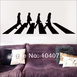 Wholesale The Beatles Abbey Road Vinyl Wall Stickers Decals Home Decor London Poster Adesivo De Parede Wall Paper Adhesive Photo Wallpaper