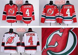 Factory Outlet, Cheap Men's #4 Scott Stevens Jersey New Jersey Devils Home Red Road White Stevens Stitched Hockey Jerseys C Patch