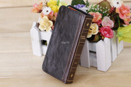 Wholesale New For Iphone S Case Retro Ancient Vintage Old Book Style Flip Leather Cover Cases Mobile Cell Phone Bags