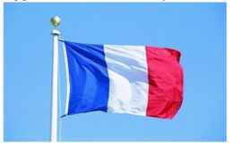 Wholesale 60 cm French Flags Super Cheap Polyester FR Flags French support tools Hanging France National Flag banner Polyester Printed