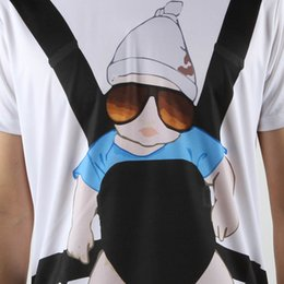 Wholesale New Promotion The Hangover Baby Bjorn Posters Funny T Shirt Men Swag Promotion Man T shirt Short Sleeve Top Tees Camisa