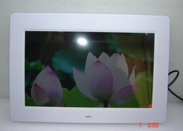 Wholesale 10 inch LCD Digital Photo Frame HD x768 Multi functional Electronic Album MP3 MP4 player remote control white black color