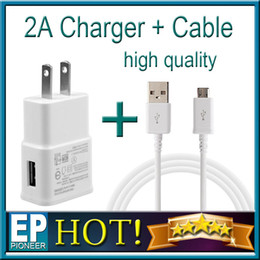 Wholesale 2 in EU US Plug Wall Chargers V A usb charger adapter Universal AC Power Adapter For Iphone Samsung S5 Note4 LG HTC SONY Packing Box