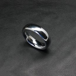 Wholesale round metal cock ring smooth heavy alloy penis ring D mm mm sex delay penis loop for men adult sexy product