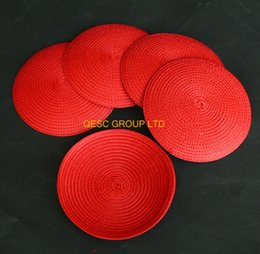 Red 14cm Round PP Straw braid Disc Fascinator Base for sinamay fascinator hair accessory tea hat.