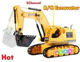 Wholesale 678 RC Excavator Remote Control Toy Power Shovel Loader Digging Truck Excavating Machine Digger Engineering Van Radio Model