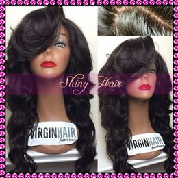 Remy lace front wigs with bangs Brazilian virgin human hair wig with full bangs for black women full lace wig with bangs