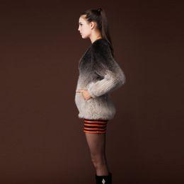 Wholesale-NEW real mink fur coat jacket overcoat womens' dress ladies' dress winter coat garment top dress 13054