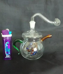 Free shipping wholesalers ----- 2015 new Color mini teapot style glass hookah   glass bong, easy to carry, gift accessories