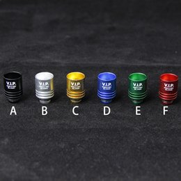 EGO Aluminum Wide Bore Drip Tips VIP 510 Thread Mouthpiece Fit E Cigs RDA RBA Tanks EGO Mods Drip Tips For Ecigs
