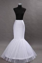 Hot Sale! Free Shipping 2014 White Mermaid Petticoats Bridal Crinoline Underskirt for Wedding Gowns Bridal Accessories