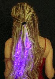 Wholesale-Hot sale! LED Flash Braid Shining Plait Fashion Flashing hair , Novelty Christmas Decoration 30pcs lot , Free drop shipping