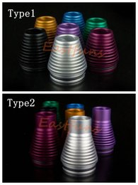 Wholesale Top Quality Aluminum Tobh ATTY Drip Tip POM Best E Cig Christmas Tree Mouthpiece for mm Tobh Atty Plume Veil Atomizer Connector Mod Caps