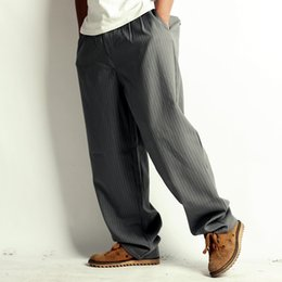 Wholesale men suit pants clothing gentermen funk style popping locking west hiphop stripe western long trousers cool classic