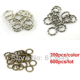Vente en gros-600PCS/LOT bricolage collier foulard pendentifs et accessoires 3 couleurs mixte charme BCC ronde cercle sonne AC0059MIX livraison gratuite à partir de foulards gros anneaux fabricateur