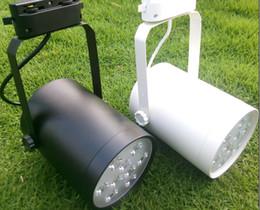 LED Track Spotlight 9W Clothing Store Kitchen Track Rail Lighting Bulbs Lamp 9X1W High Power 9 Watt Spot Lights Lamps Red Blue Green White
