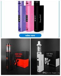 Wholesale Authentic Genuine original kangertech subox kanger subox mini starter kit authentic subox nano starter kit w rda boxs mods