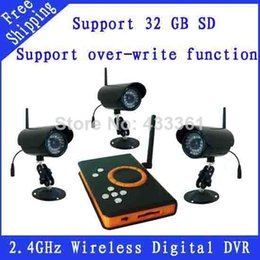 .4GHz Wireless CCTV DVR Kit ZJ128DR3 IR LED Night Vision Camera + Wireless Receiver DVR Support SD Card Storage FREE SHIPPING