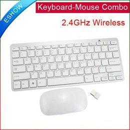 Wholesale-New 2.4GHz Wireless Keyboard and Mouse Combo for PC Laptop K0073B Eshow