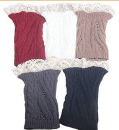 2015 Lace Open twist Knit Boot Cuff knit boot topper faux legwarmers sock tops knit leg warmers boot warmers 5 colors 24 pairs lot #3713