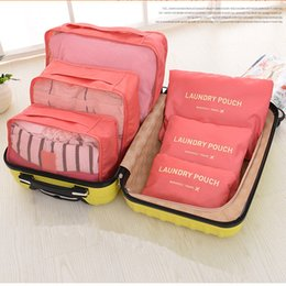 Travel Storage Bag Packing Cube Portable Organizer Case Cosmetic Bag 6PCS Pack More In Less Space