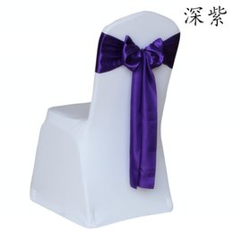 Wholesale 50pcs Satin Chair Sash Wedding Decorations Supplies Bowknot Wedding Party Favors Cheap Tie Chair Bows Wedding Table Centerpieces