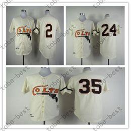 Wholesale Houston Colts Throwback Baseball Jersey Retro Joe Morgan Nellie Fox Jimmy Wynn Vintage Turn Back Stitched Jersey