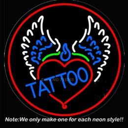 Wholesale Piercing Tattoo Addiction Logo Neon Sign Neon Bulbs Room Recreation Windows Neon Signs Real Glass Tube Handcraft Best Gift x24