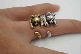 Min 1pc 2015 New Trendy Cat Animal Wrap Ring for Women Adjustable Retro Animal Rings in gold and silver JZ309