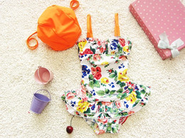kids Swimwear 2018 summer new Chinese style one-piece children hot springs bathing suit fashion printing kids beach swimsuit 1-8age ab899