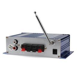 El jugador del sd para la televisión en Línea-2pcs / lot HY-400 12V Digital Car Car Audio Display Power Amplificador Soporte de tarjetas USB / SD de DVD del coche de entrada con CEC_827 Control Remoto