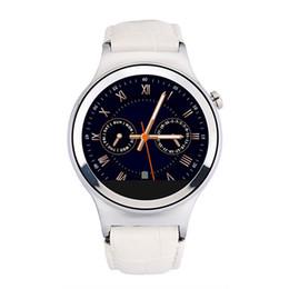 Новый нержавеющей стали 1 S3 Luxury Мужская Бизнес Смарт Часы Кожаный ремешок MTK2502 Blueooth 4.0 SmartWatch Heart Rate Monitor для смартфонов