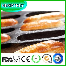 Wholesale Subway Silicone Fiber Glass Bread Form Pans SIL ECO Silform Non Stick Perforated Baking Mold for Sub Rolls Loaf Baguette Tray
