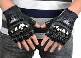 Strong alloy stainless steel off-road motorcycle racing gloves motorcycle gloves, full finger Knights slip drop resistance half finger