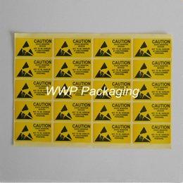 Etiquette électronique à vendre-100Pcs / Lot 2.5 * 5.5cm Attention Post-it Seal Adhésif auto Étiquette d'avertissement Rappel Pour Sensitive Device statique puces électroniques, PCB